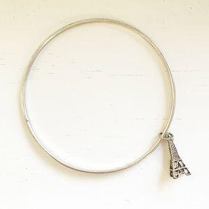 Vintage silver Paris Eiffel Tower charm bracelet